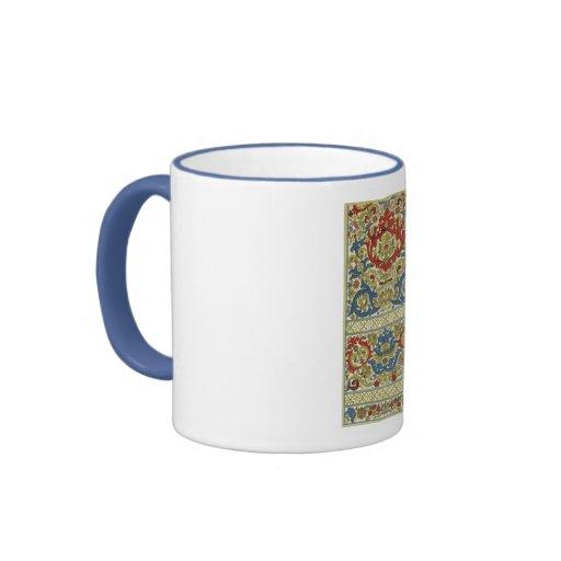 Modelo árabe del estilo tazas de café