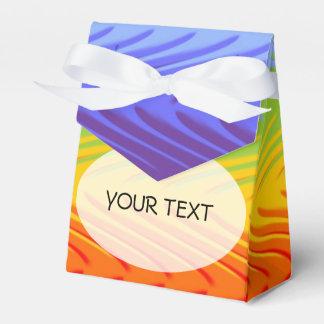 Modelo - arco iris de las ondas coloreado + su caja para regalos