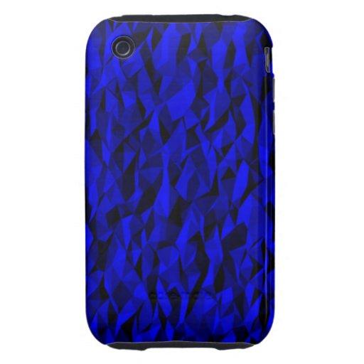 modelo arrugado azul tough iPhone 3 cárcasa