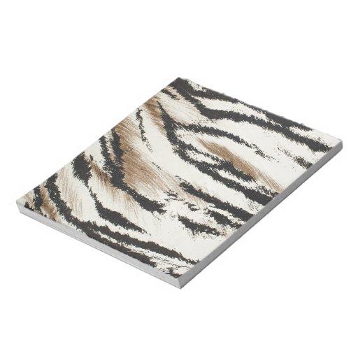 Modelo artificial de la piel del tigre bloc de papel