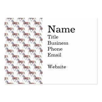 Modelo artístico del caballo del arco iris colorid plantilla de tarjeta personal