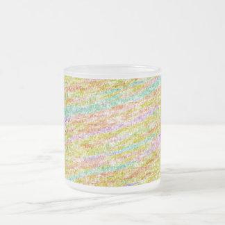 Modelo artístico Drinkware del garabato de los col Taza Cristal Mate