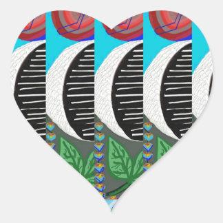 Modelo artístico LINDO de la LUNA: Por NavinJOSHI Pegatina En Forma De Corazón