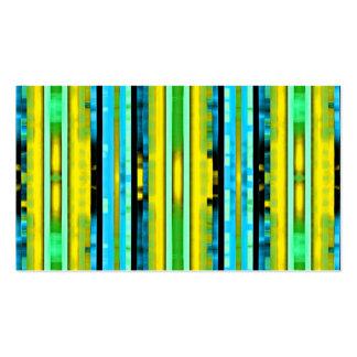 Modelo artsy brillante de moda amarillo de las tarjetas de visita