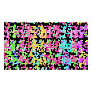 Modelo artsy enrrollado multicolor colorido tarjetas de visita