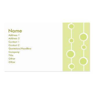 Modelo aseado tarjetas de visita