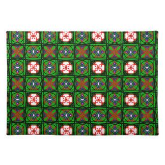 Modelo astuto de la materia textil mantel individual
