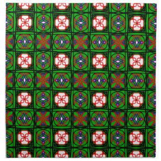 Modelo astuto de la materia textil servilletas imprimidas