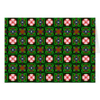 Modelo astuto de la materia textil tarjeta de felicitación
