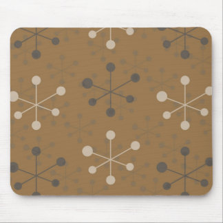 Modelo atómico en Mousepad marrón Alfombrillas De Ratones