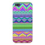 Modelo azteca abstracto colorido iPhone 5 cobertura