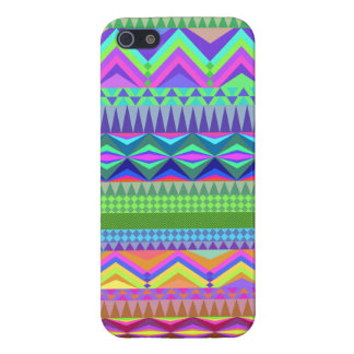 Modelo azteca abstracto colorido iPhone 5 funda