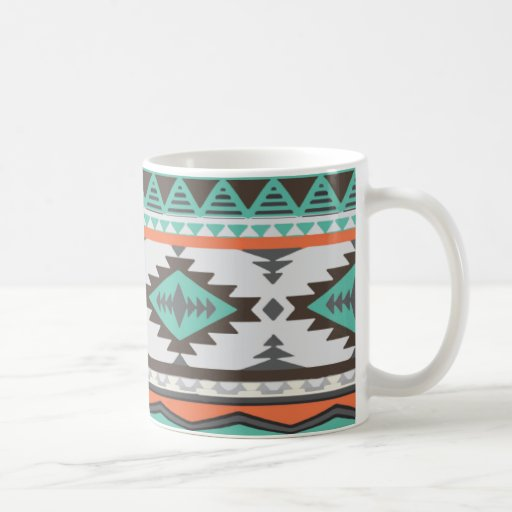 modelo azteca anaranjado ciánico, rojo claro verde taza