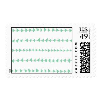 Modelo azteca blanco de las flechas de la verde sello