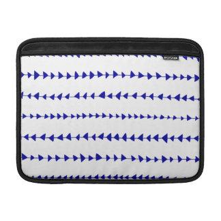 Modelo azteca blanco de las flechas de los azules  fundas MacBook
