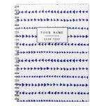 Modelo azteca blanco de las flechas de los azules libretas espirales
