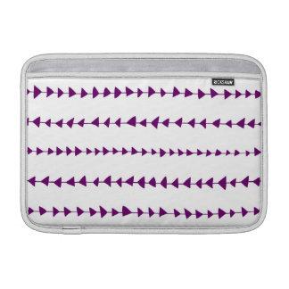 Modelo azteca blanco púrpura de las flechas fundas macbook air