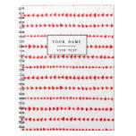 Modelo azteca blanco rojo de las flechas cuadernos