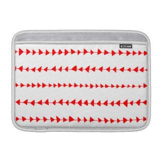 Modelo azteca blanco rojo de las flechas fundas macbook air