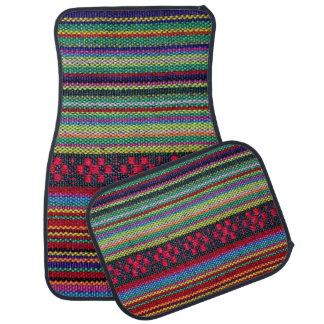 Modelo azteca colorido alfombrilla de auto