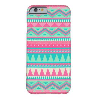 Modelo azteca colorido de la raya del zigzag de funda para iPhone 6 barely there