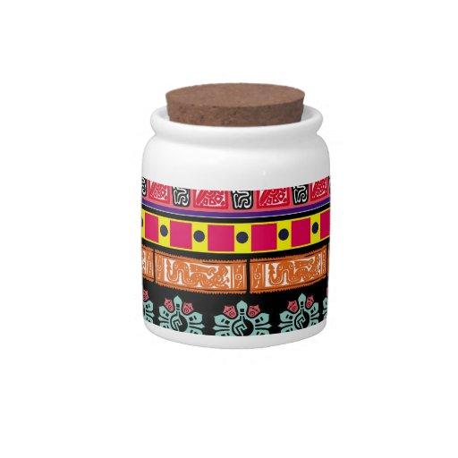 Modelo azteca colorido jarras para caramelos