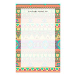 Modelo azteca colorido papelería