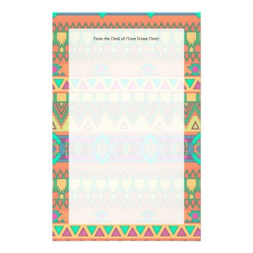 Modelo azteca colorido  papeleria