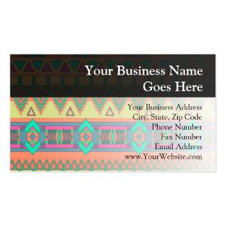 Modelo azteca colorido tarjetas de visita