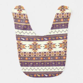 Modelo azteca colorido baberos de bebé
