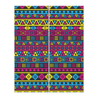 Modelo azteca de la repetición del estilo - CMY y  Impresiones En Lienzo Estiradas