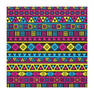 Modelo azteca del estilo - CMY y negro Impresiones En Lona Estiradas