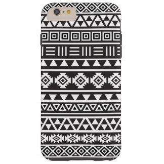 Modelo azteca del estilo - monocromo funda de iPhone 6 plus tough