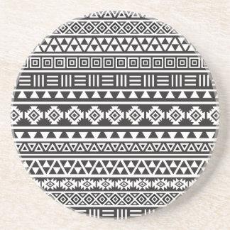 Modelo azteca del estilo - monocromo posavasos manualidades