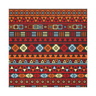Modelo azteca del estilo - rojo azul del amarillo  lona envuelta para galerías