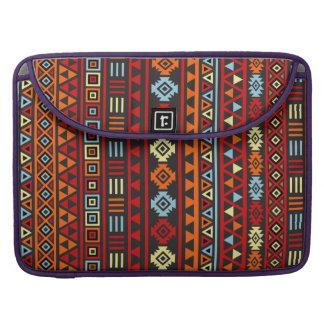 Modelo azteca del estilo - rojo azul del amarillo  funda macbook pro