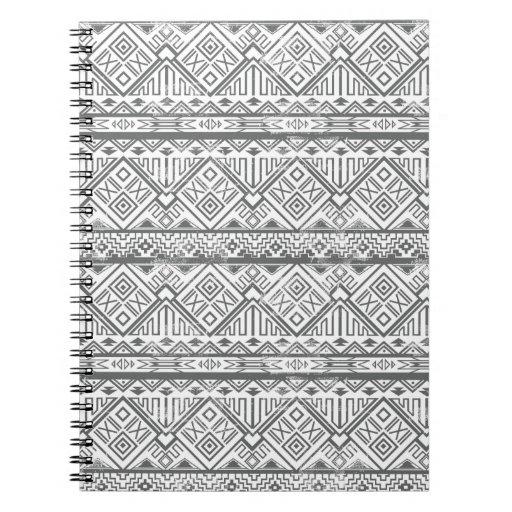 Modelo azteca geométrico abstracto 2 cuaderno