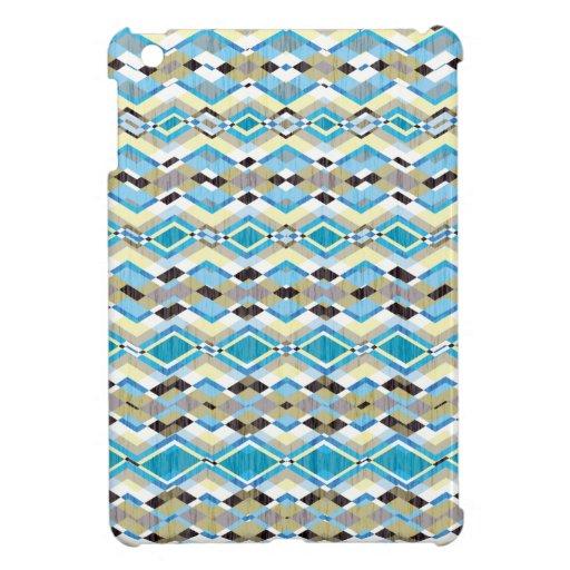 Modelo azteca geométrico azul fresco