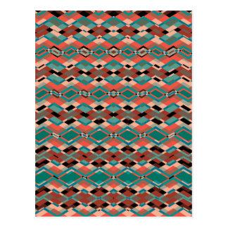 Modelo azteca geométrico fresco postales
