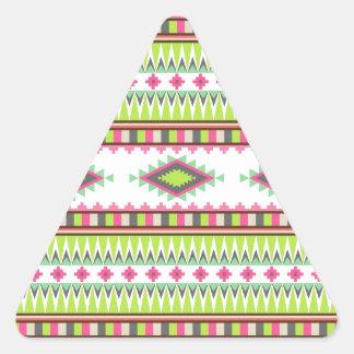Modelo azteca pegatina triangular