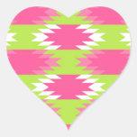 Modelo azteca pegatinas corazon