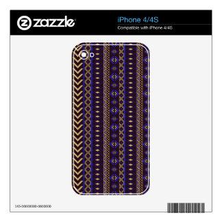 Modelo azteca real calcomanías para iPhone 4S