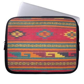 Modelo azteca rojo colorido fundas ordendadores