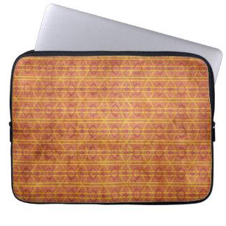 Modelo azteca rojo y anaranjado funda portátil