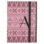 Modelo azteca rosado bonito del monograma