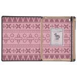 Modelo azteca rosado bonito del monograma iPad coberturas