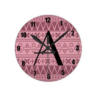 Modelo azteca rosado bonito del monograma relojes
