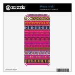Modelo azteca rosado calcomanía para iPhone 4