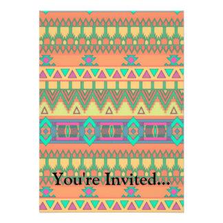 Modelo azteca tribal de Ikat del zigzag colorido d