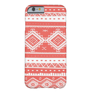 Modelo azteca tribal del cordón (coral) funda para iPhone 6 barely there